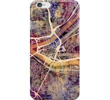 Pittsburgh Pennsylvania Street Map iPhone Case/Skin