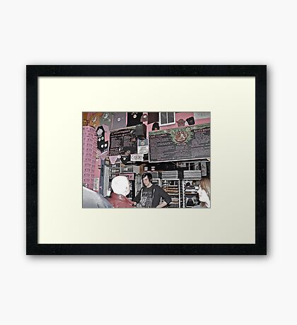 """""""What's your Voo Doo?"""", Asked The Goth Dude - Portland, Oregon Framed Print"""