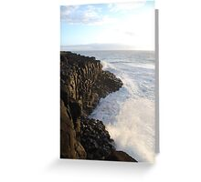 First Light on Giant's Causeway Greeting Card