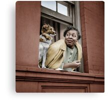 1943 May New York. A woman and her dog in the Harlem section. Canvas Print