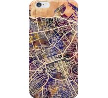 Edinburgh Street Map iPhone Case/Skin