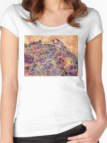Edinburgh Street Map Women's Fitted Scoop T-Shirt