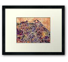 Edinburgh Street Map Framed Print