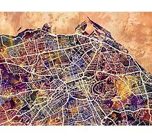 Edinburgh Street Map Photographic Print