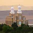 Logan Temple at Dusk 20x30 by Ken Fortie