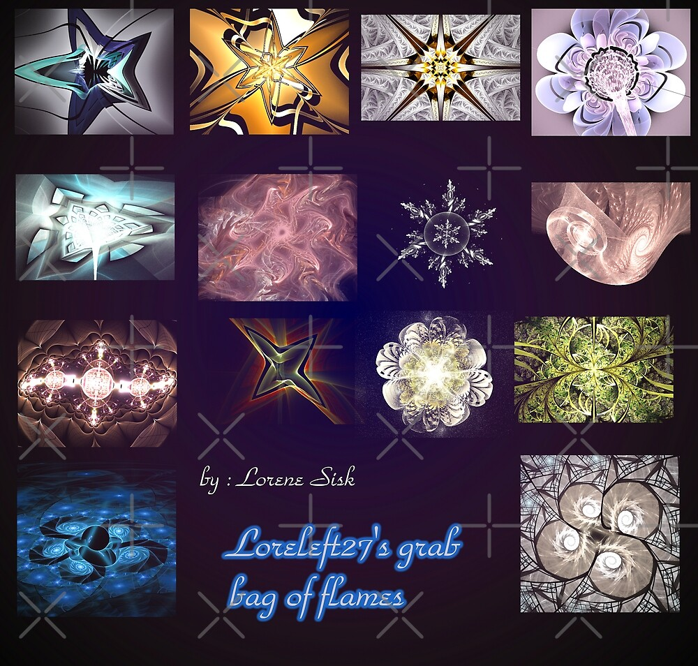 my grab bag of flames by LoreLeft27