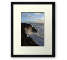 The Tumultuous Sea Framed Print