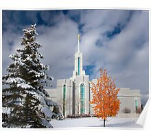 Mt. Timpanogos Temple After the Storm 20x24 Poster