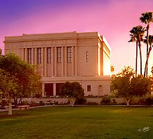 Mesa Arizona Temple Desert Sunset 20x24 by Ken Fortie