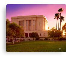 Mesa Arizona Temple Desert Sunset 20x24 Canvas Print