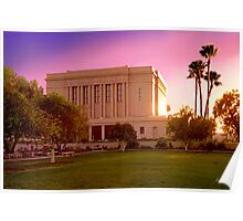 Mesa Arizona Temple Desert Sunset 20x30 Poster