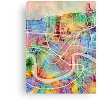 New Orleans Street Map Canvas Print