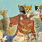 Cute Cat collage 2 by kewzoo