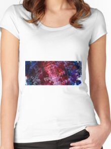 Predator - Abstract Fractal Women's Fitted Scoop T-Shirt