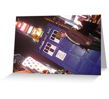 TARDIS in Times Square Greeting Card