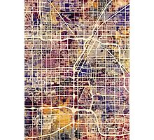 Las Vegas City Street Map Photographic Print
