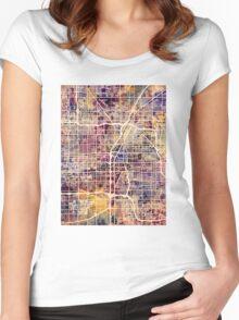 Las Vegas City Street Map Women's Fitted Scoop T-Shirt