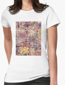 Las Vegas City Street Map Womens Fitted T-Shirt