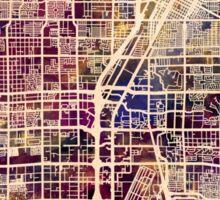 Las Vegas City Street Map Sticker
