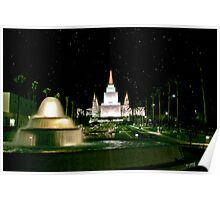 Oakland Temple Fountain by Starlight 20x30 Poster
