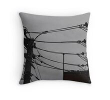 Telephone Wires Photography Throw Pillow