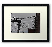 Telephone Wires Photography Framed Print