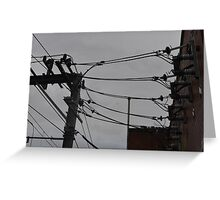 Telephone Wires Photography Greeting Card