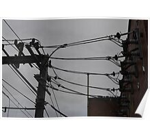 Telephone Wires Photography Poster