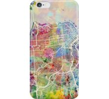 San Francisco City Street Map iPhone Case/Skin