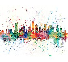 Houston Texas Skyline Photographic Print