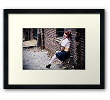 Playing hooky Framed Print