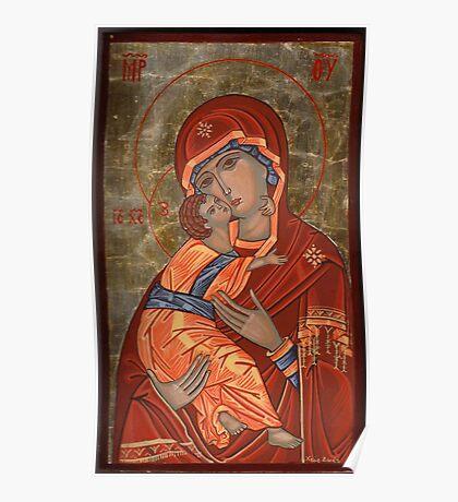 Mother of God Glykophilousa Poster