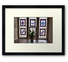 Canons Ashby House Staircase Tower Window Framed Print