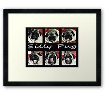 Silly Pug Framed Print