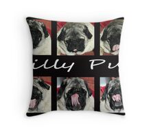 Silly Pug Throw Pillow