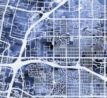 Albuquerque New Mexico City Street Map Sticker