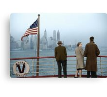 1941 Dec, Lower Manhattan seen from the S.S. Coamo leaving New York. Canvas Print