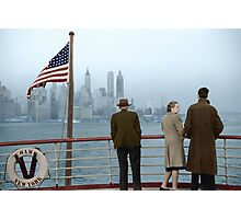 1941 Dec, Lower Manhattan seen from the S.S. Coamo leaving New York. Photographic Print