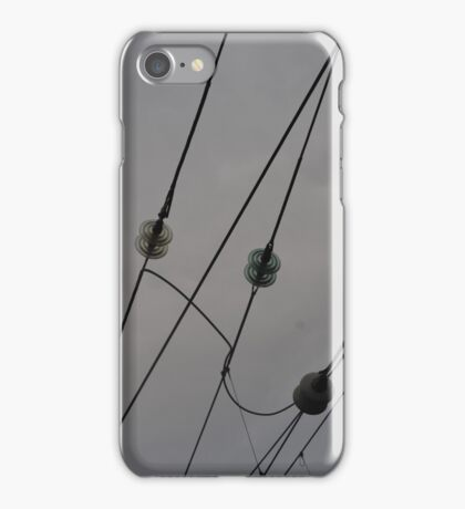 Railway Wires Photography iPhone Case/Skin