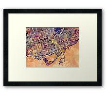 Toronto Street Map Framed Print