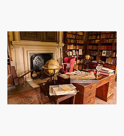 Canons Ashby House The Book Room Photographic Print