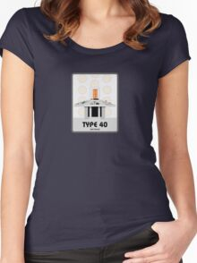 Type 40 (old skool) Women's Fitted Scoop T-Shirt