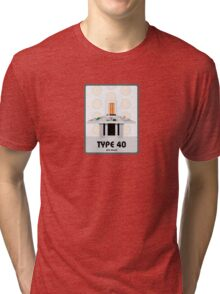 Type 40 (old skool) Tri-blend T-Shirt