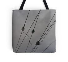 Railway Wires Photography Tote Bag