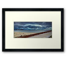 Path to the Storm - Botany Bay NSW Framed Print