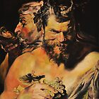 Two Satyrs after Rubens. Oil on canvas 60x50cm. by jihorda