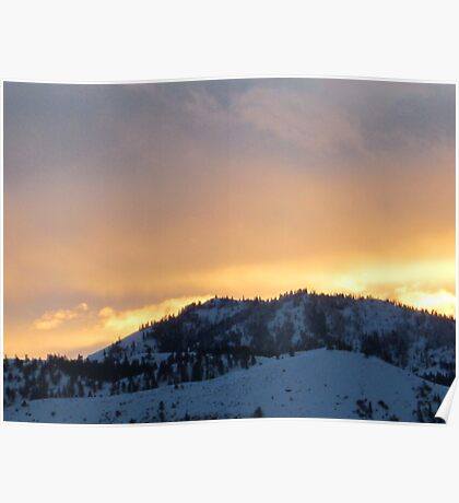 Bright Sky Over Horse Lake Mountain Poster