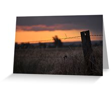 Country Sunset Greeting Card