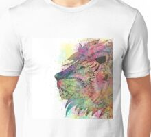 Awesome tribal watercolor lion design Unisex T-Shirt