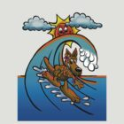 Surfing Kangaroo Mum by NHR CARTOONS .